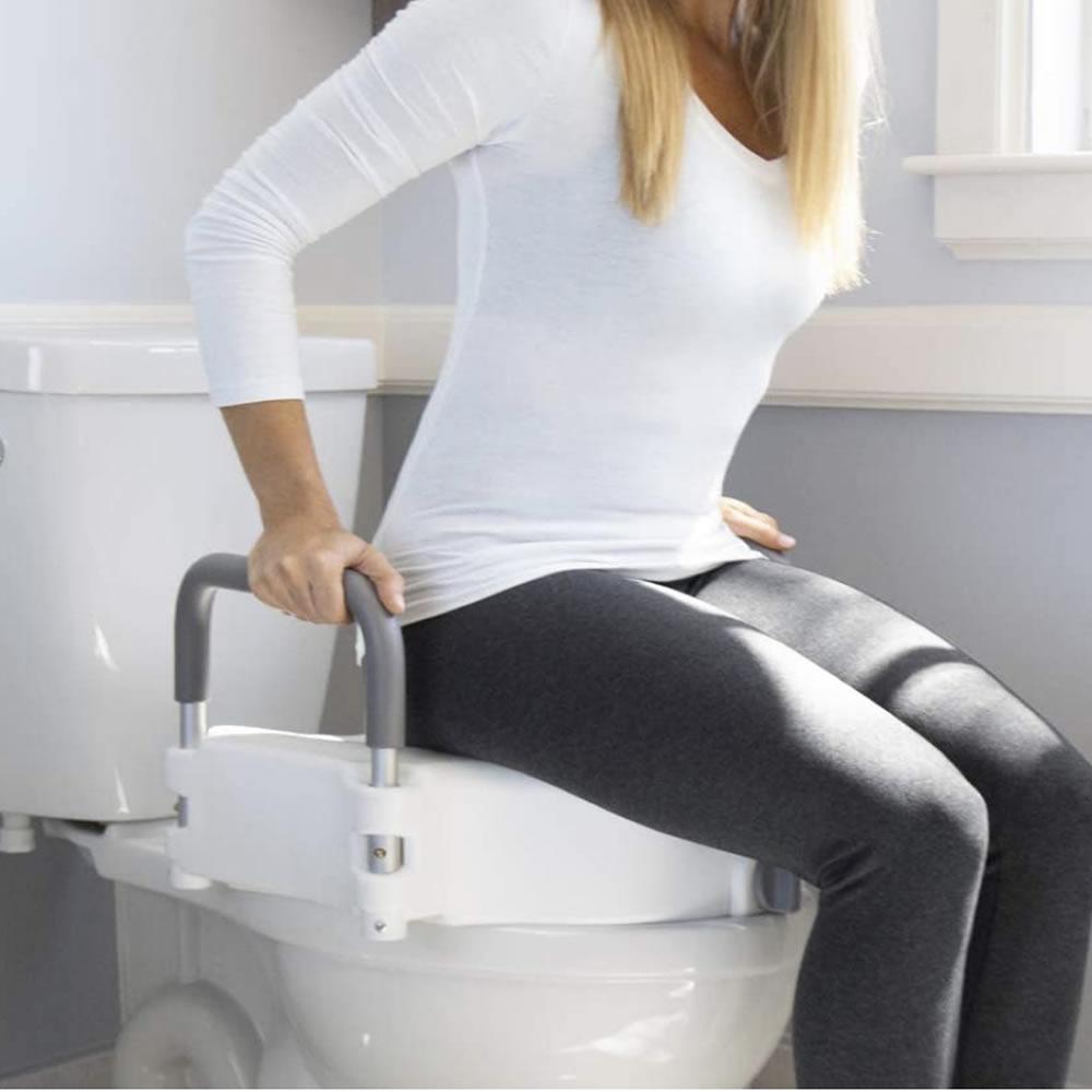 elevated toilet seat attachment