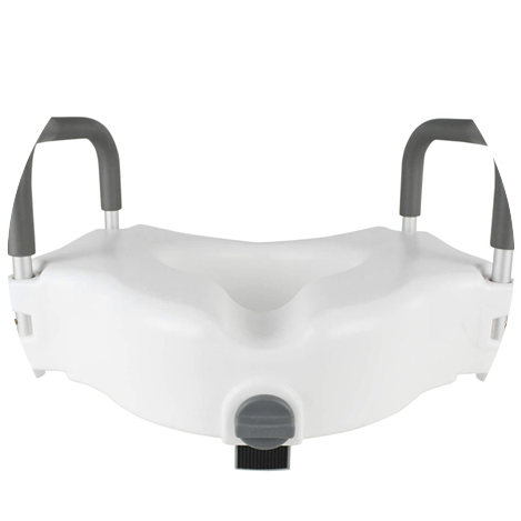 elevated toilet seat with padded handles